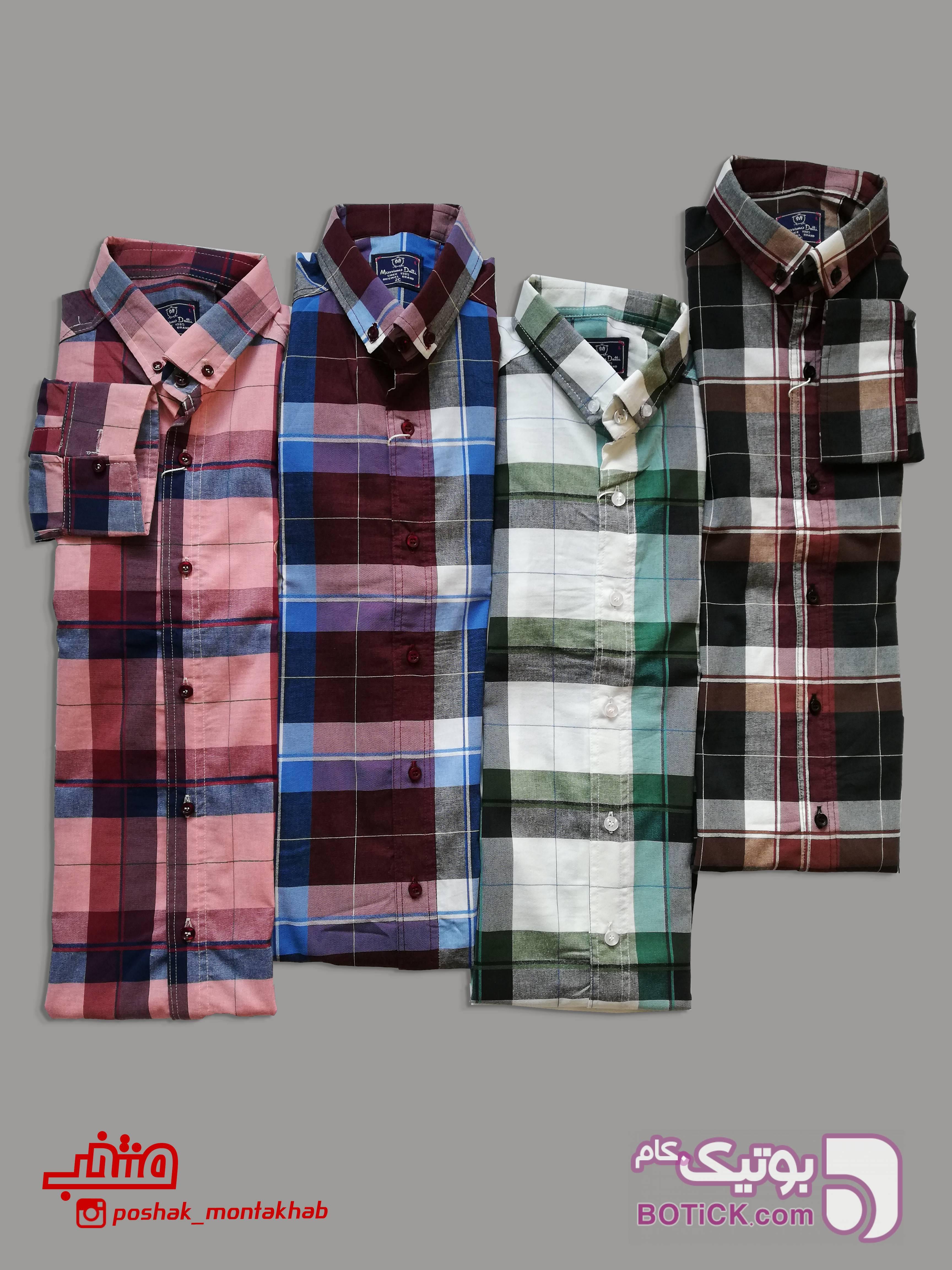 پیراهن کشی سبز پيراهن مردانه