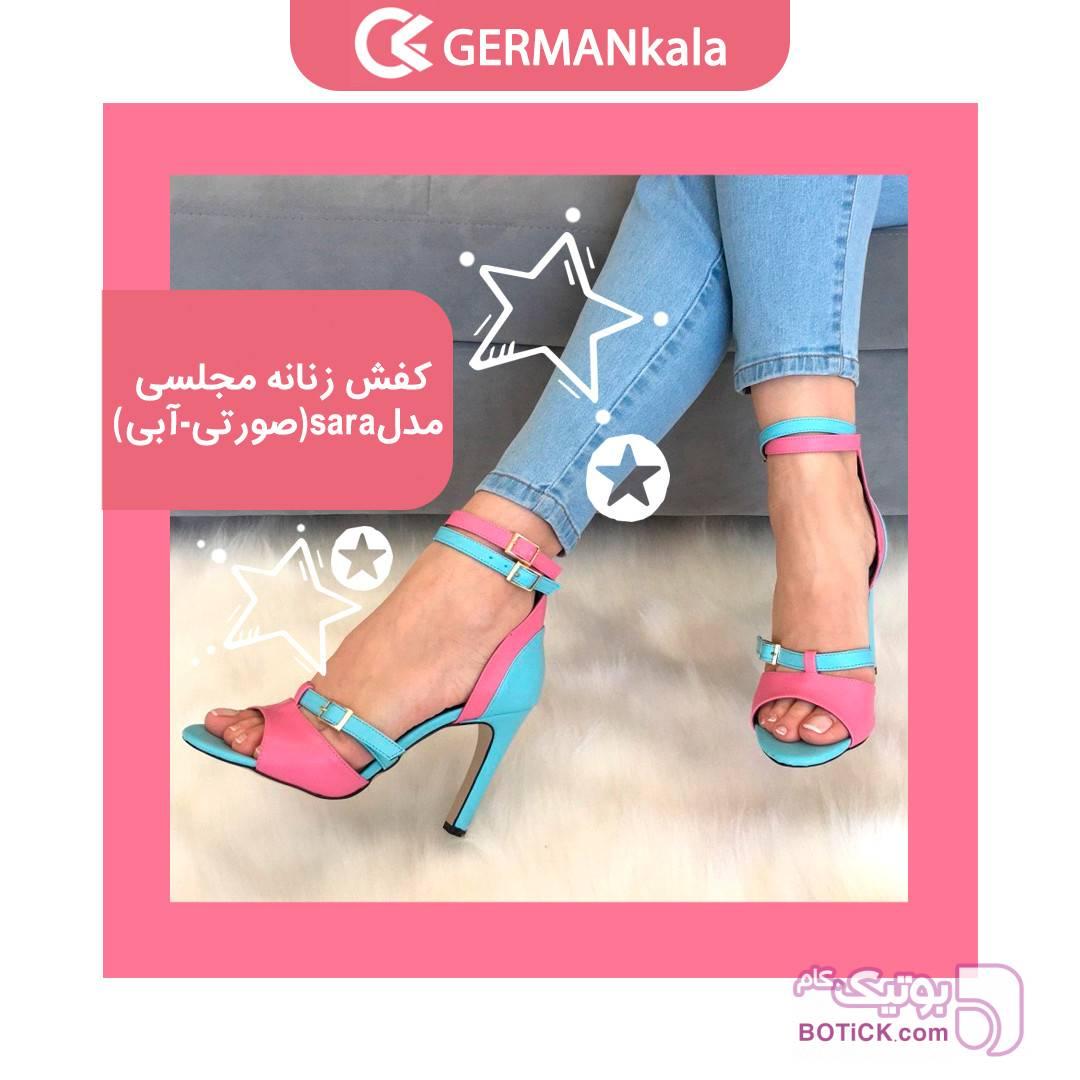 کفش زنانه مجلسی مدل sara  برند miu gutso صورتی كفش زنانه
