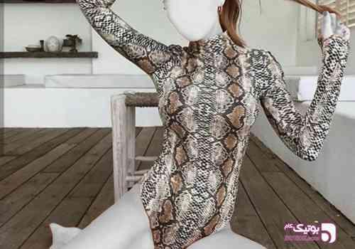 مدل بادی انگشتی طوسی لباس زیر زنانه