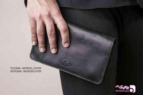 کیف پاسپورتی تمام چرم - كيف مردانه