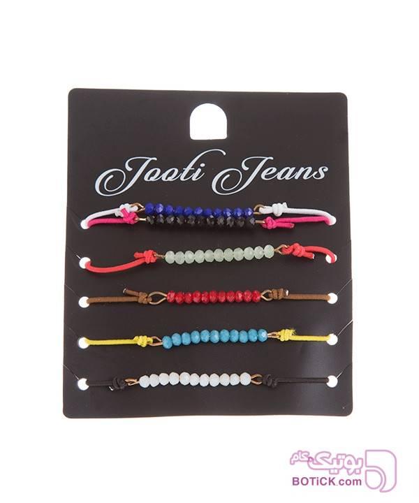 دستبند زنانه جوتی جینز قرمز دستبند و پابند