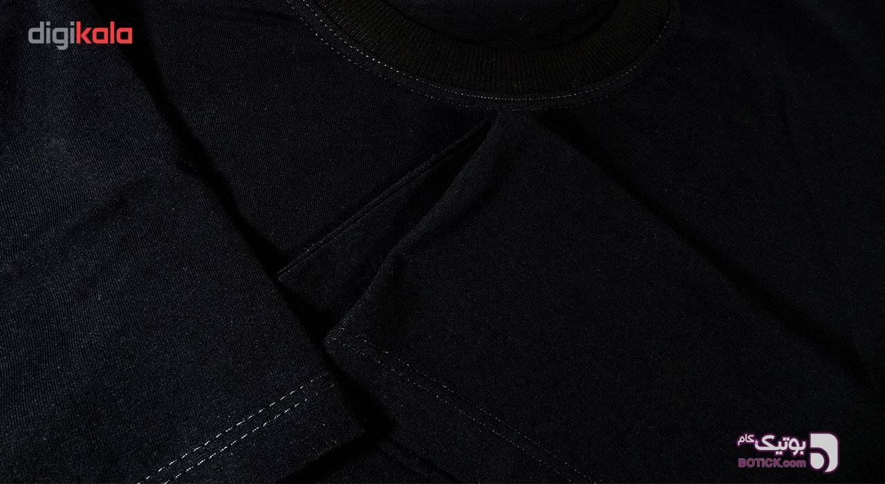 تیشرت آستین کوتاه مردانه بلک اند وایت فانتزی کد BW-A-6120 مشکی تی شرت و پولو شرت مردانه