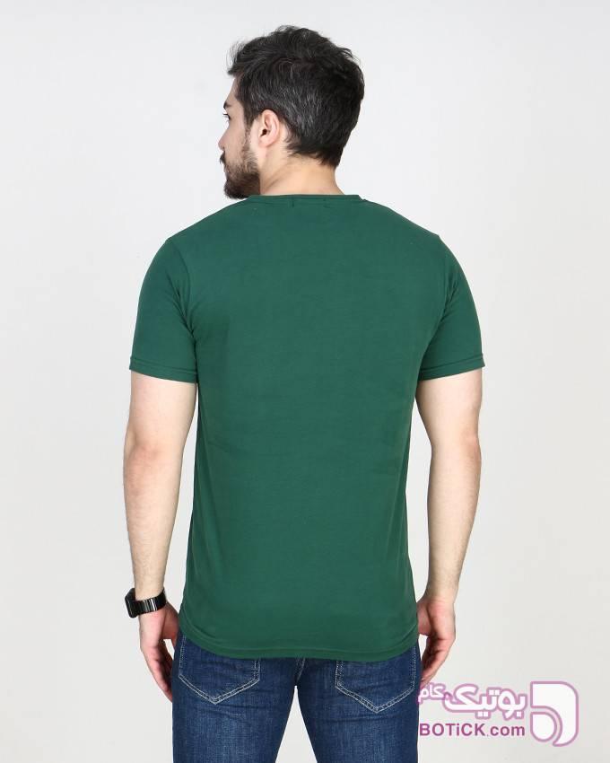 تیشرت استین کوتاه یقه گرد سبز تی شرتو پولو شرت مردانه