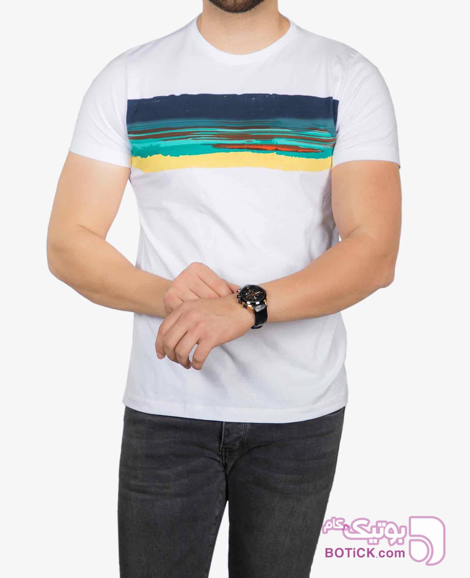 تیشرت سفید طرح دار مردانه سفید تی شرت و پولو شرت مردانه