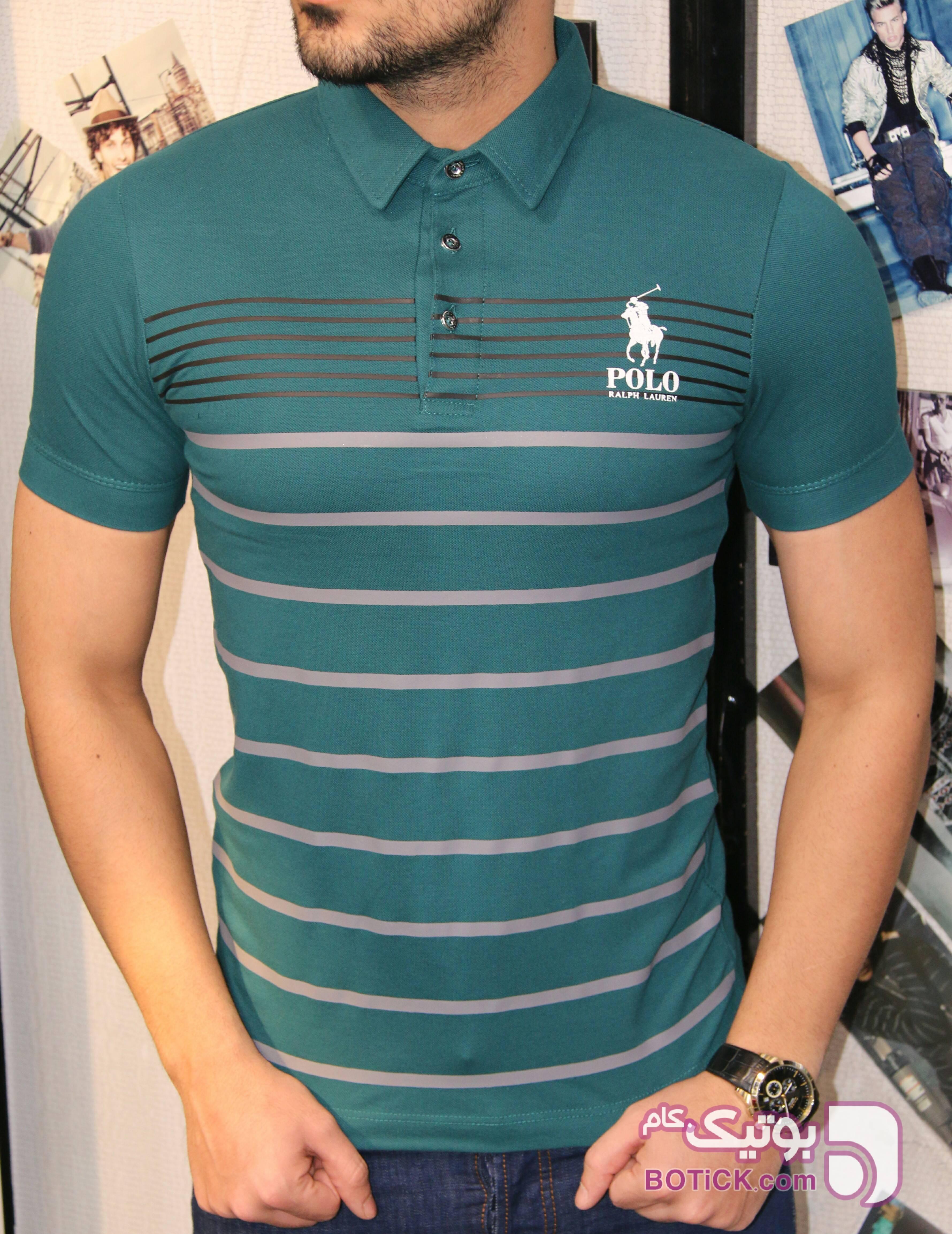 تیشرت یقه دار جودون سبز تی شرت و پولو شرت مردانه