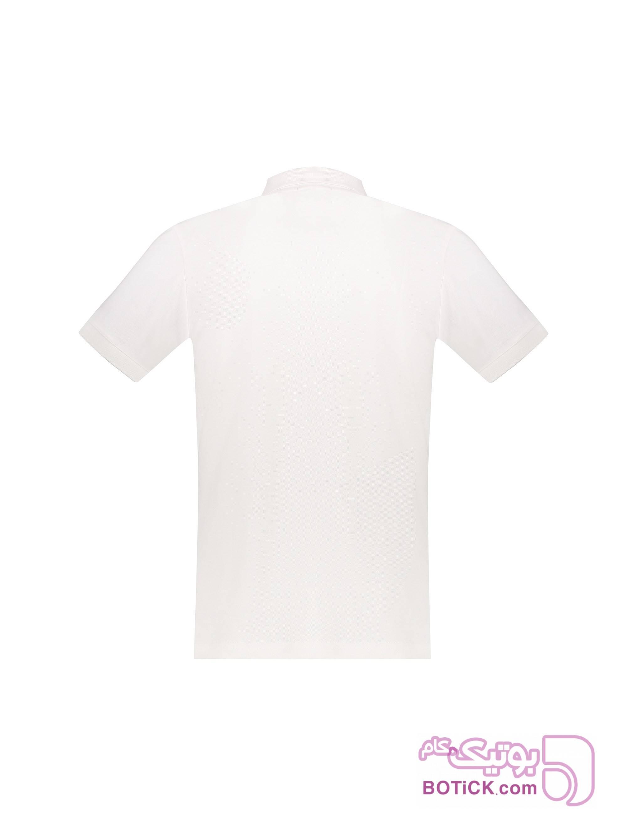 پولوشرت نخی آستین کوتاه مردانه سفید تی شرت و پولو شرت مردانه