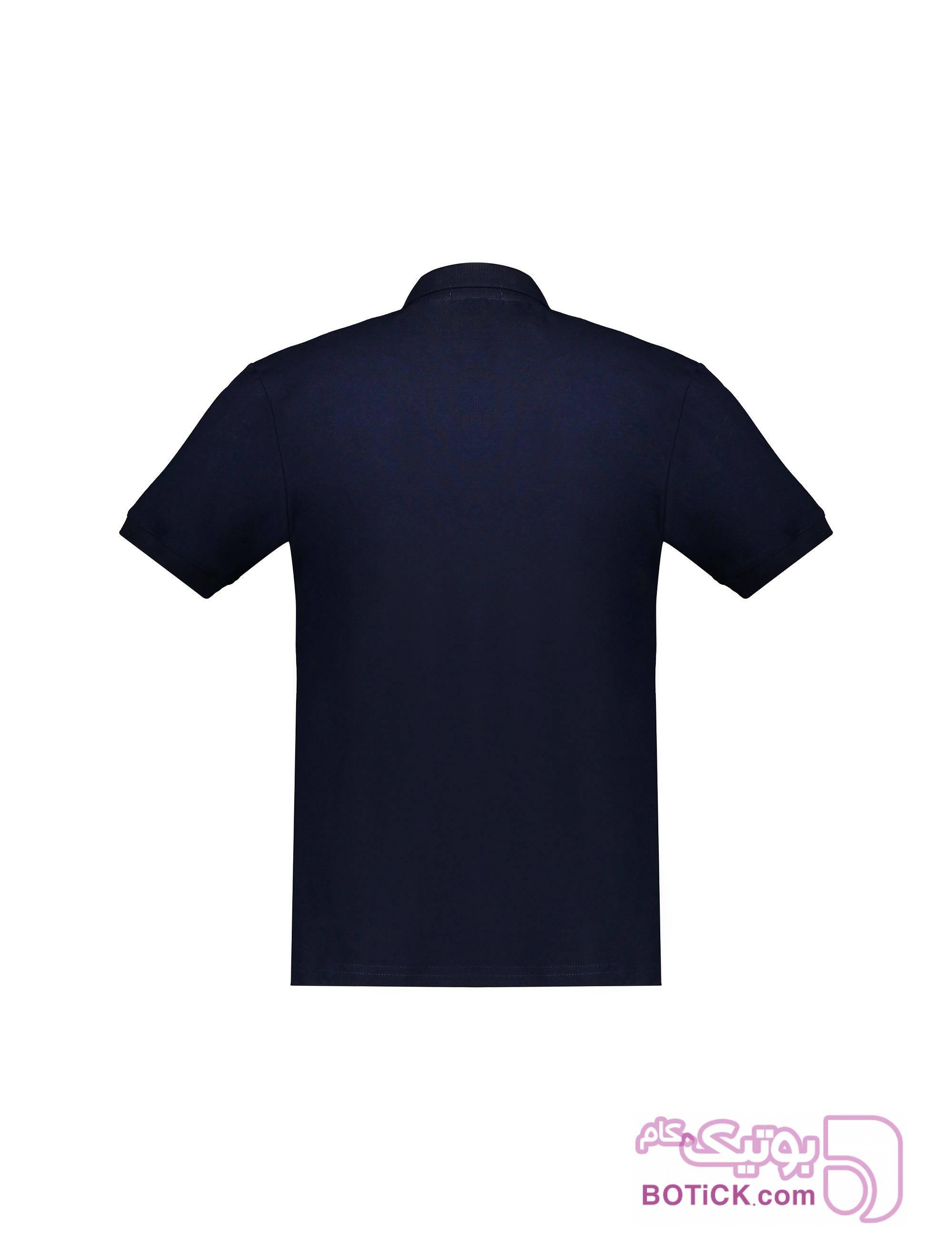 پولوشرت نخی آستین کوتاه مردانه سورمه ای تی شرت و پولو شرت مردانه