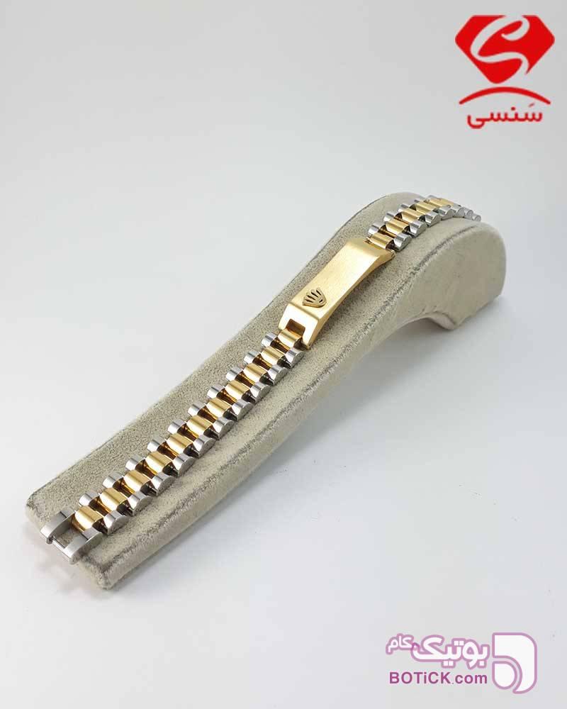 دستبند چرم و استیل مارک دار  مشکی دستبند و پابند