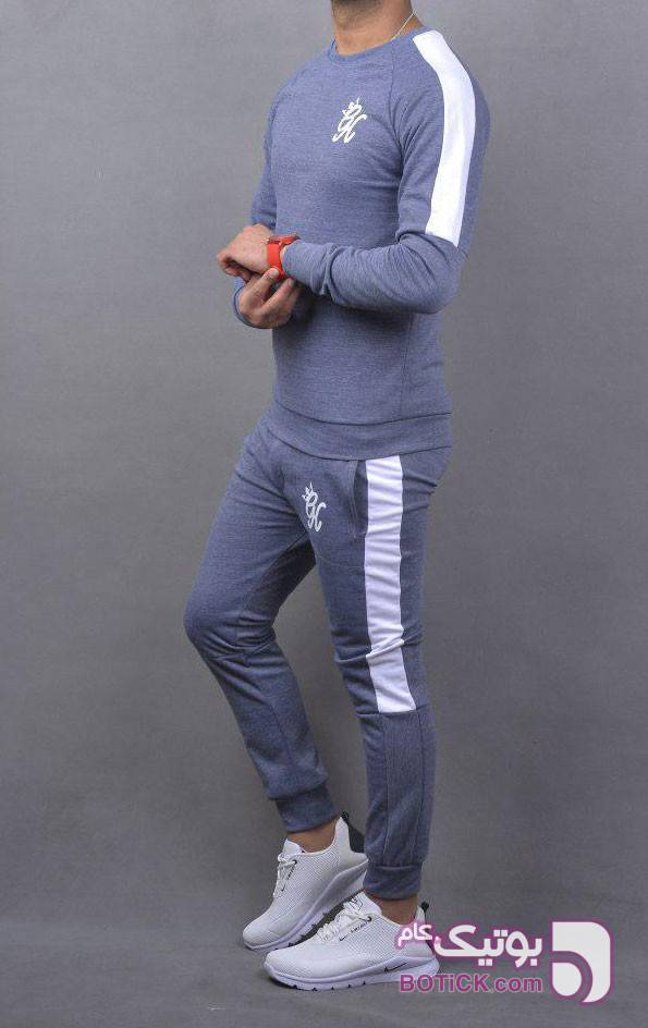 خرید ست تیشرت شلوار باشگاهی GYM طوسی ست ورزشی مردانه