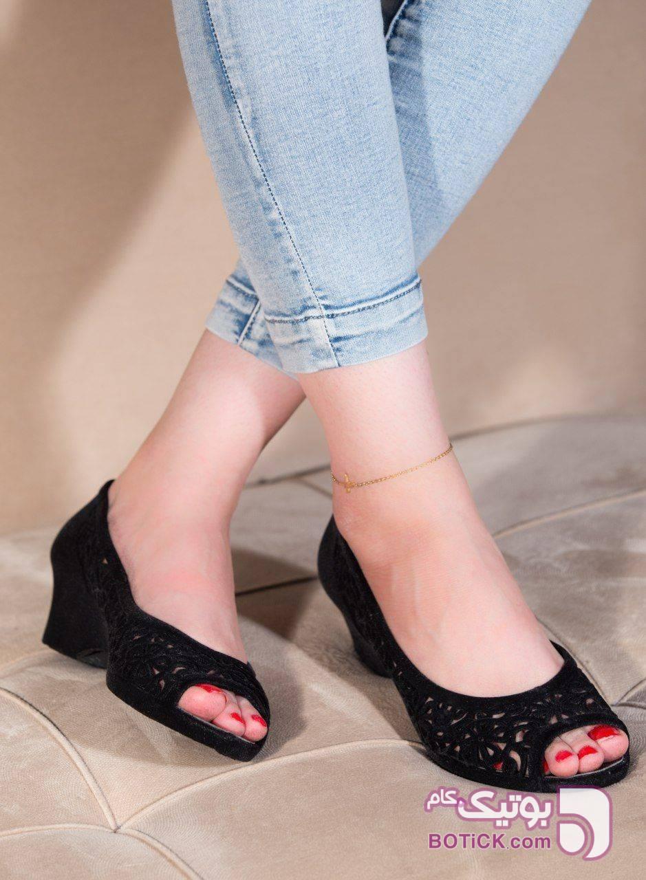 کفش ژله ای  مشکی صندل زنانه