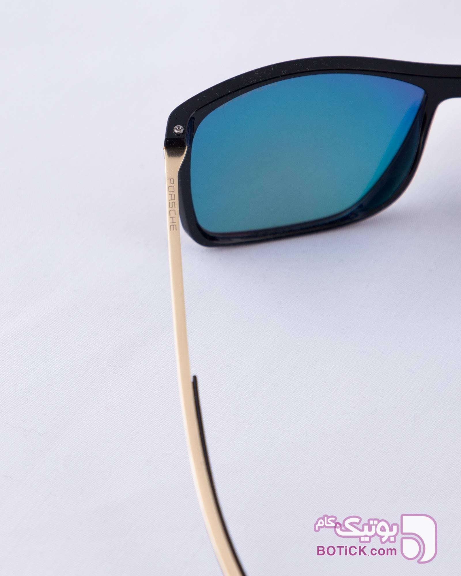 عینک آفتابی مردانه شیشه رنگی آبی عینک آفتابی