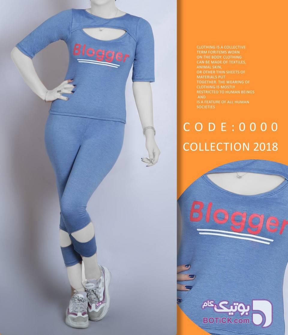 عمده فروشی ست ورزشی آبی لباس راحتی زنانه