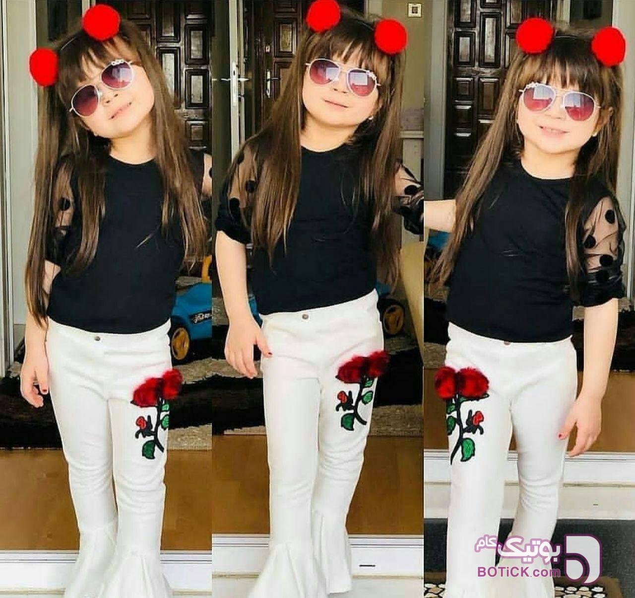 تاپ و شلوار دخترانه مشکی لباس کودک دخترانه