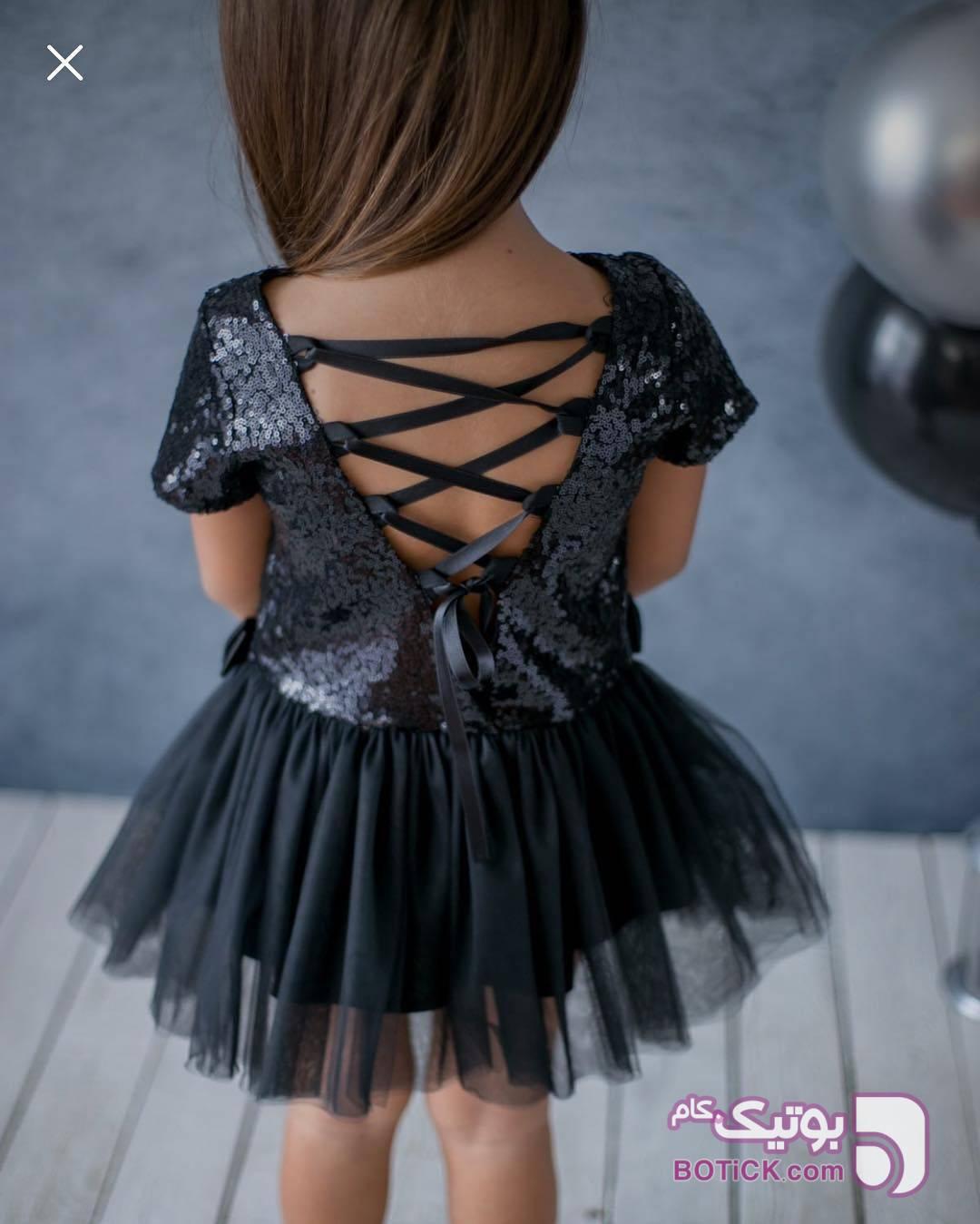 پيرهن مشکی لباس کودک دخترانه