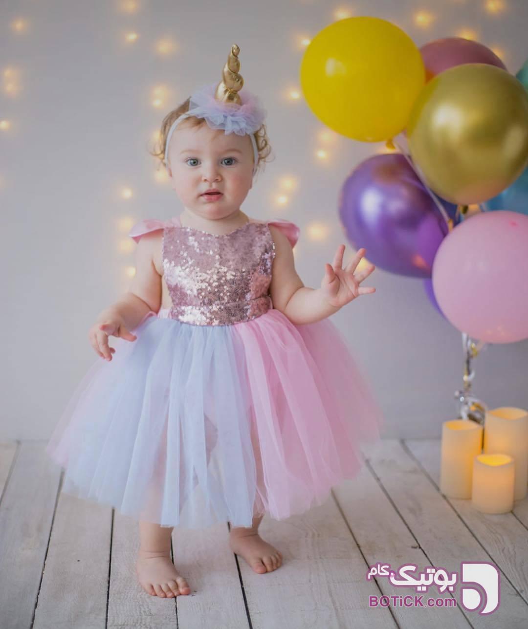 پيرهن صورتی لباس کودک دخترانه
