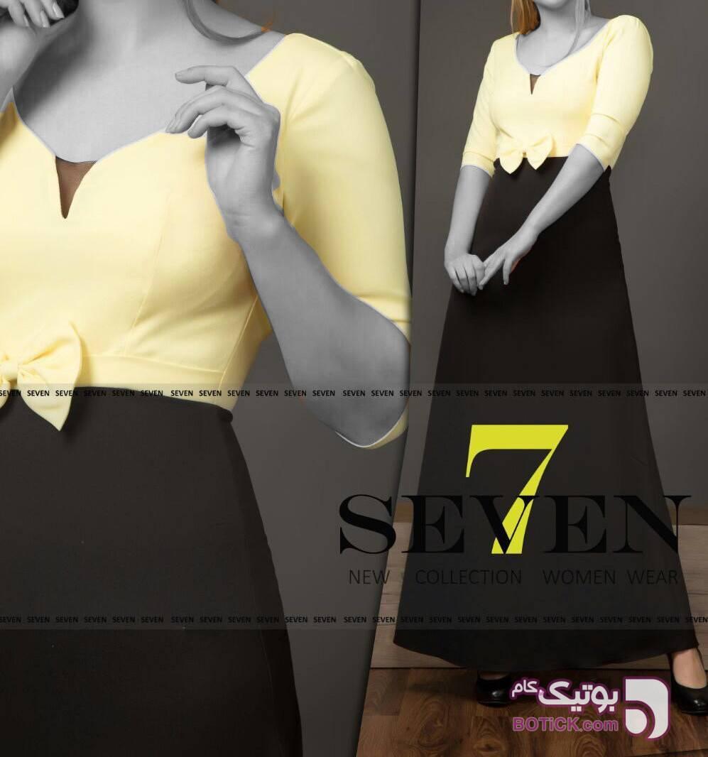 لباس مجلسی مدل ناجیلا بلند زرد لباس  مجلسی