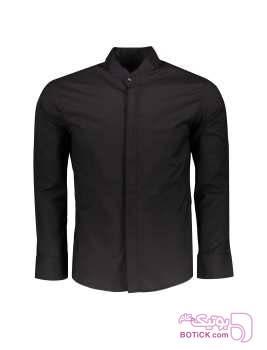 پیراهن آستین بلند مردانه مشکی پيراهن مردانه