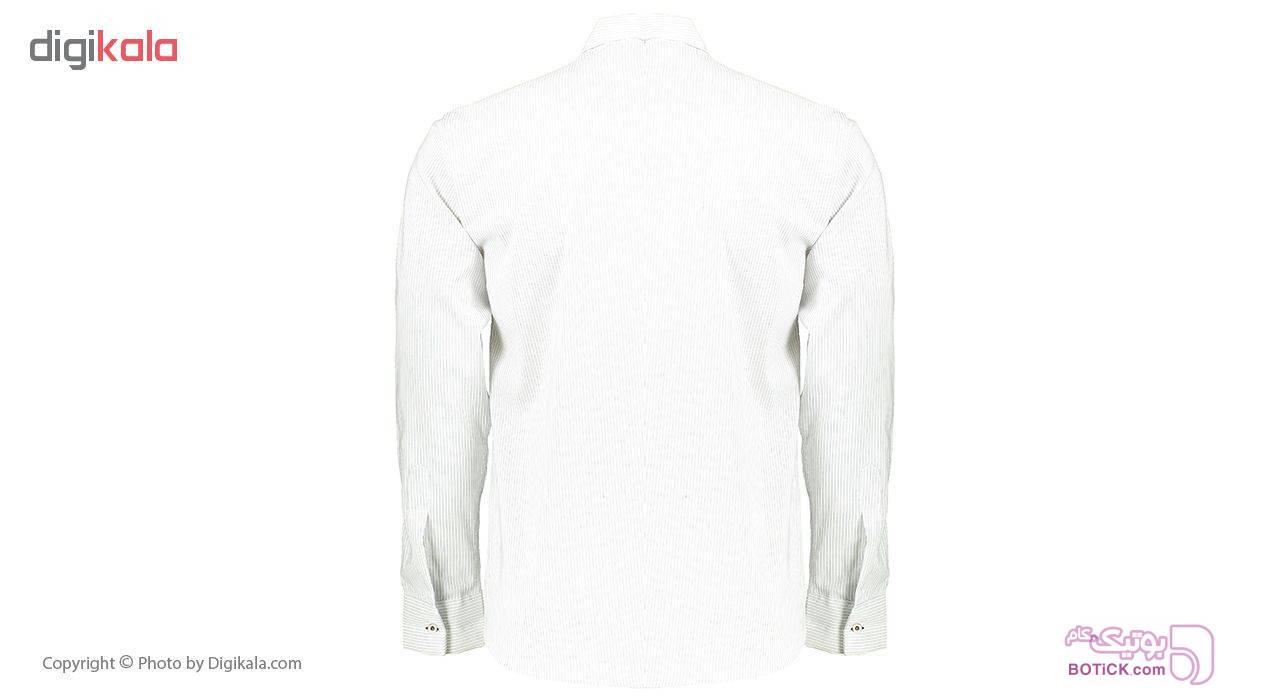 پیراهن مردانه فرد مدل P.Baz.114 سفید پيراهن مردانه