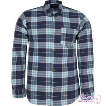 پیراهن مردانه فرد مدل P.baz.116 فیروزه ای پيراهن مردانه