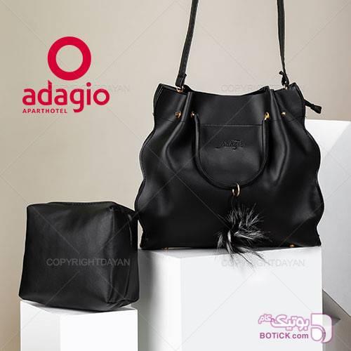 ست کیف زنانه Adagio مدل N9303 مشکی كيف زنانه