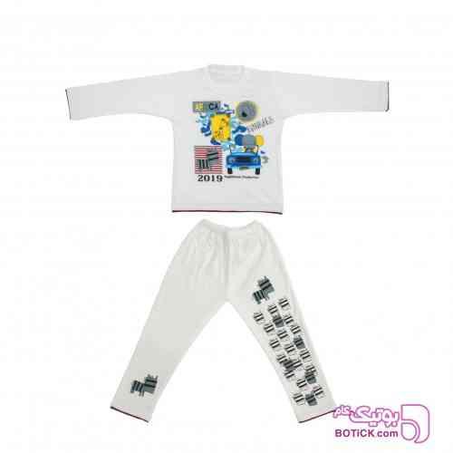 ست بلوز و شلوار راحتی پسرانه کد SD201 - لباس کودک پسرانه