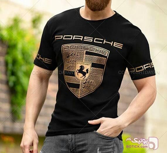 تیشرت پورشه مشکی تی شرتو پولو شرت مردانه