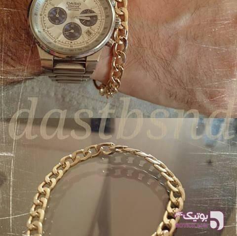 دستبند مردانه طلایی دستبند و پابند