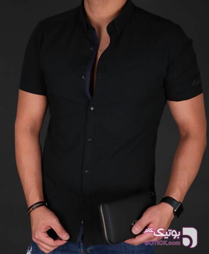 پیراهن استین کوتاه مشکی پيراهن مردانه