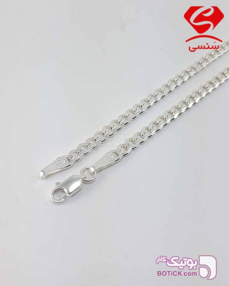 زنجیر نقره مردانه  نقره ای گردنبند