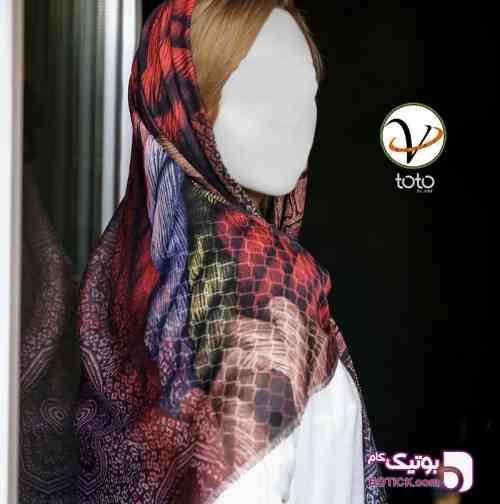 روسری toto سوپرنخ،ریشه سوزنی،قواره 120 - شال و روسری