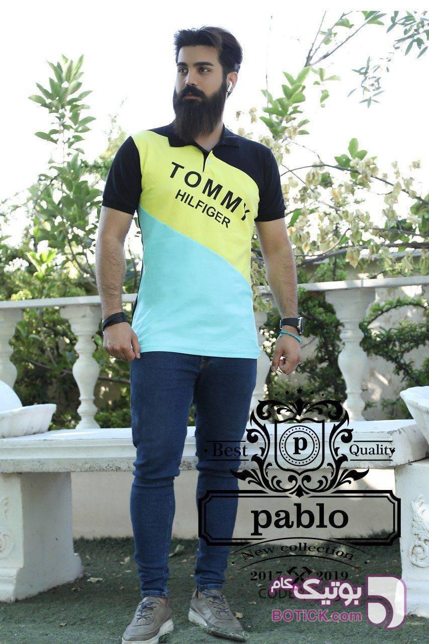 تیشرت یقه دار کیفیت صادراتی تابستانه سبز تی شرتو پولو شرت مردانه