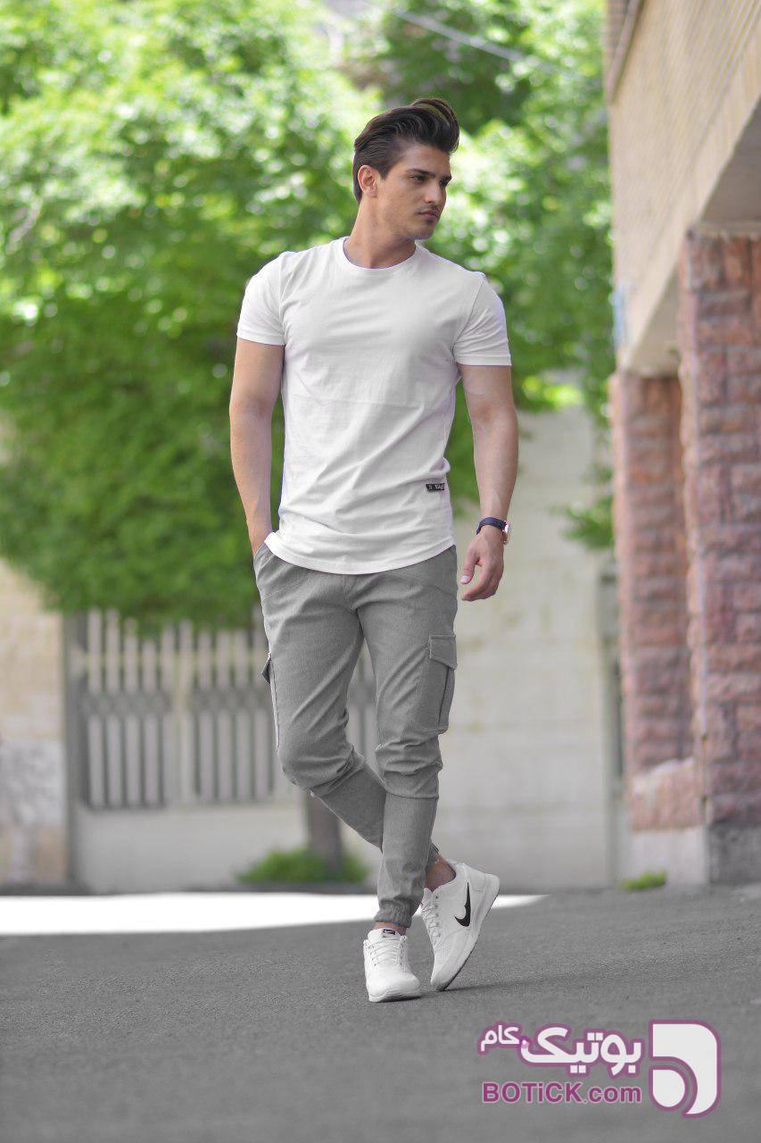 خرید شلوار اسلش طوسی روشن نقره ای شلوار مردانه