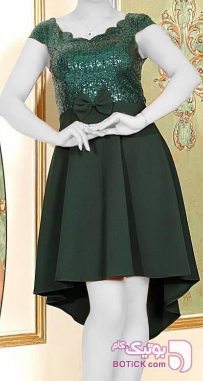 سارافون دخترانه پولکی با تنخور عالی سبز لباس  مجلسی