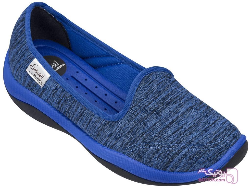 کفش راحتی گرندا مدل 17387 - 90103 آبی كتانی زنانه