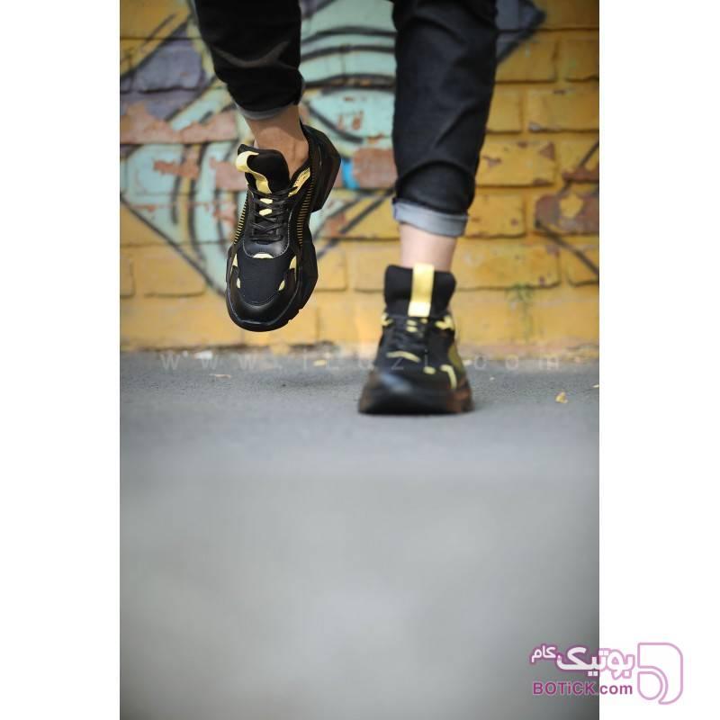 کفش کتانی پوما مردانه RS RUNNING زرد كتانی مردانه