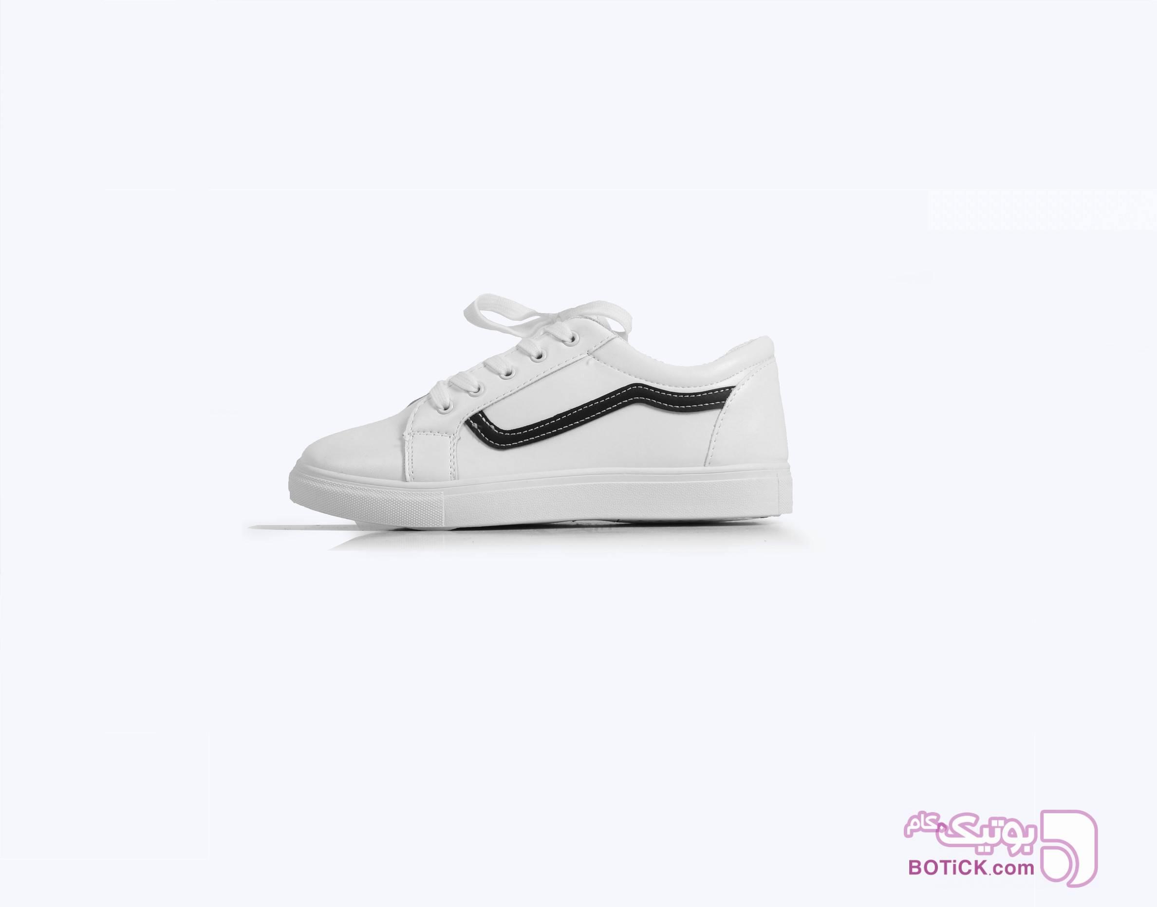 کفش اسپرت سفید دخترانه جدید سفید كتانی زنانه
