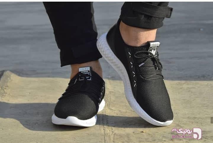 کفش ورزشی طرح ادیداس مشکی كتانی مردانه