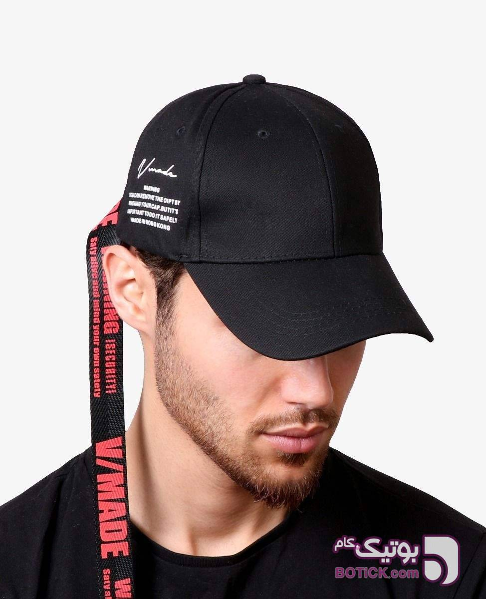 کلاه لبه گرد Warning کد 7351 مشکی کلاه و اسکارف
