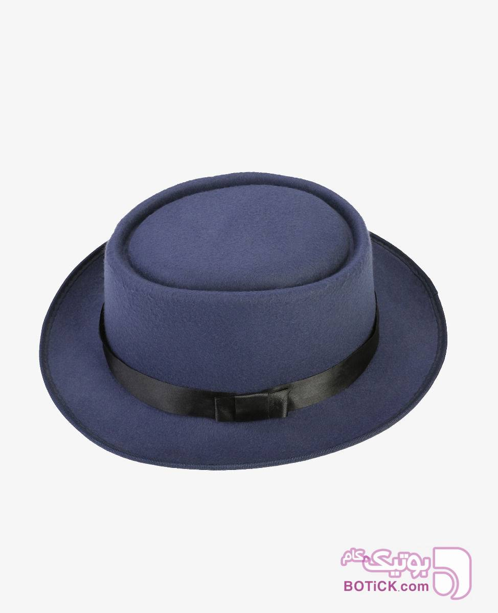 کلاه Fedora مدل 6026 سورمه ای کلاه و اسکارف