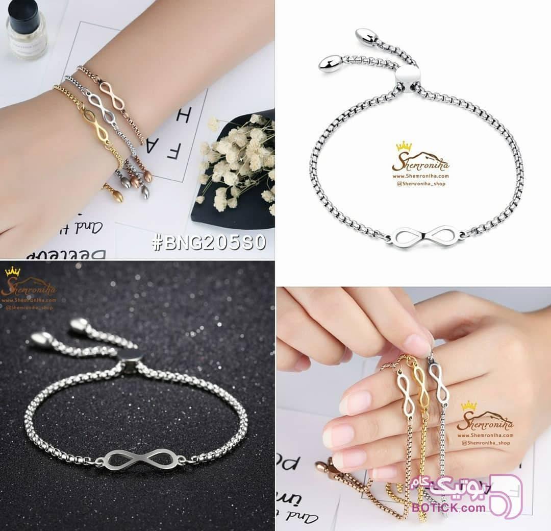 دستبند بینهایت Infinity نقره ای دستبند و پابند
