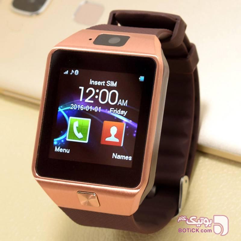 ساعت هوشمند مدل DZ09 زرد ساعت