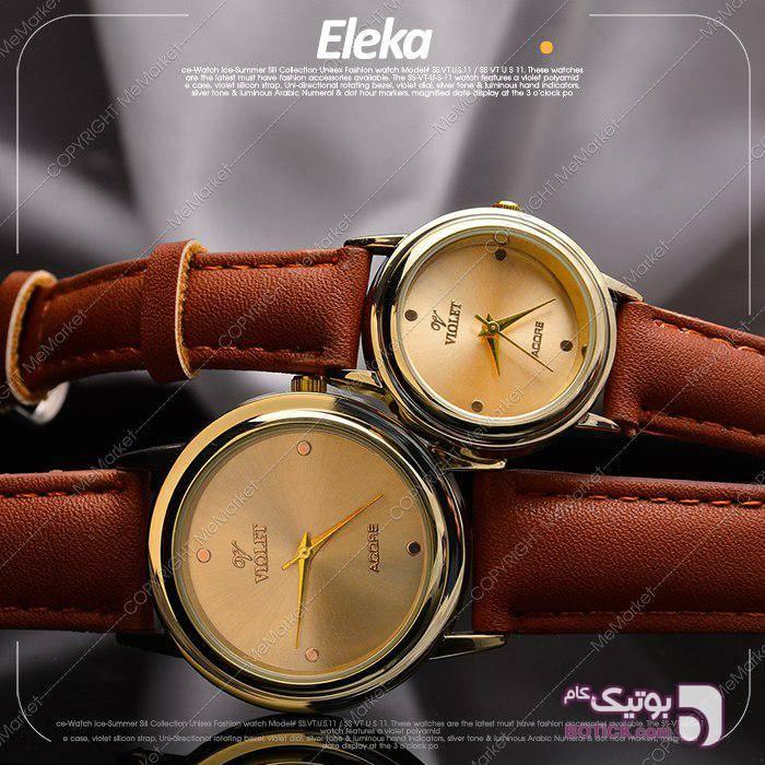 ست ساعت VIOLET مدل ELEKA زرد ساعت
