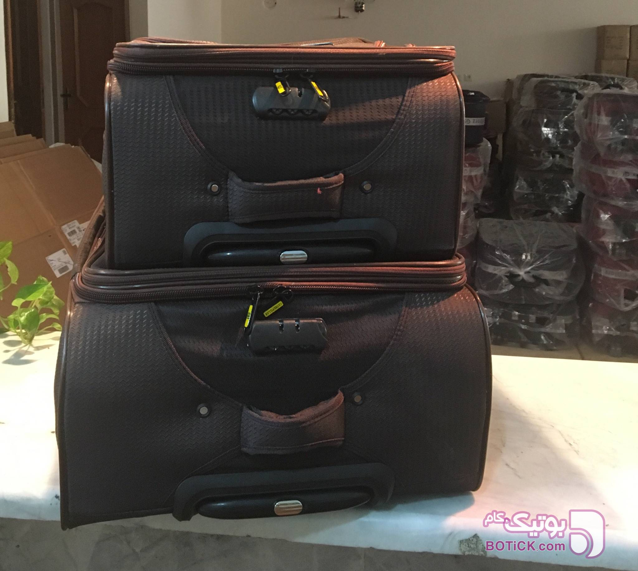 ست چمدان طرح خارجی کسا مشکی ساک و چمدان