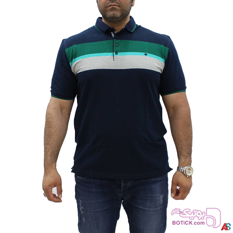 تی شرت سایز بزرگ کد محصول hutk104 سفید سایز بزرگ مردانه
