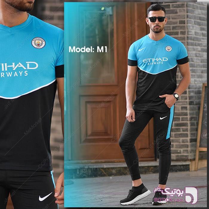 ست ورزشي MANCITY مدل m1  مشکی ست ورزشی مردانه