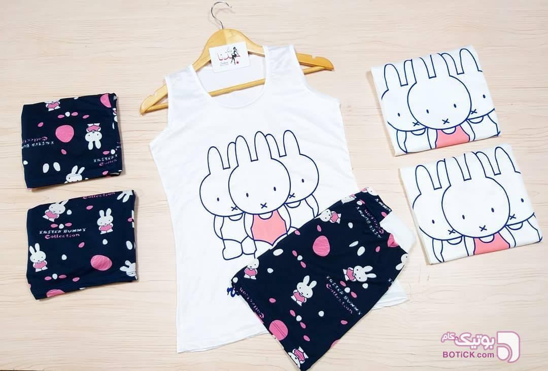 ست_تاپ_شُرتک_خرگوش سورمه ای لباس راحتی زنانه