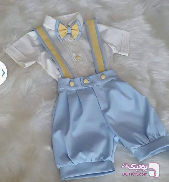 بلوز شلوارک پسرانه زرد لباس کودک پسرانه