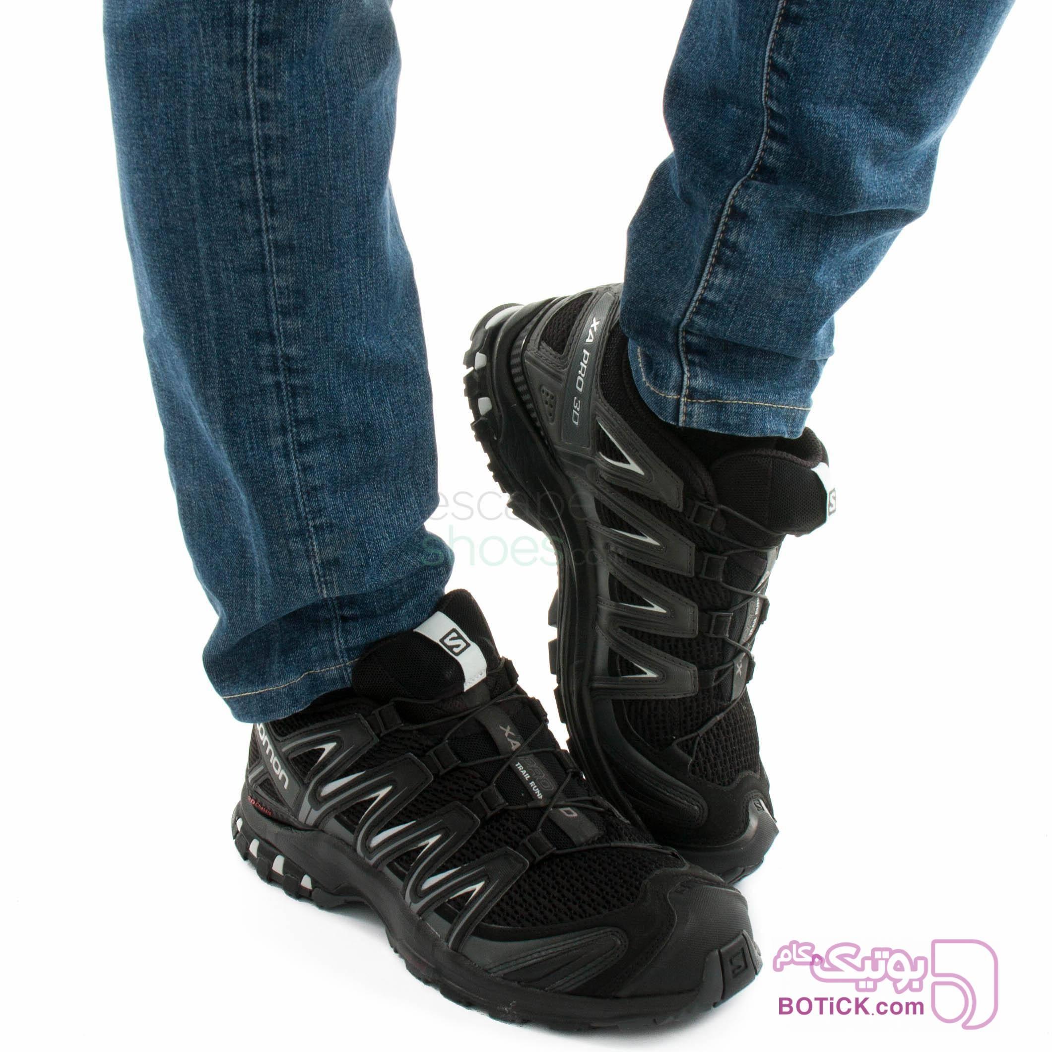 کفش سالومون اورجینال مشکی كتانی مردانه