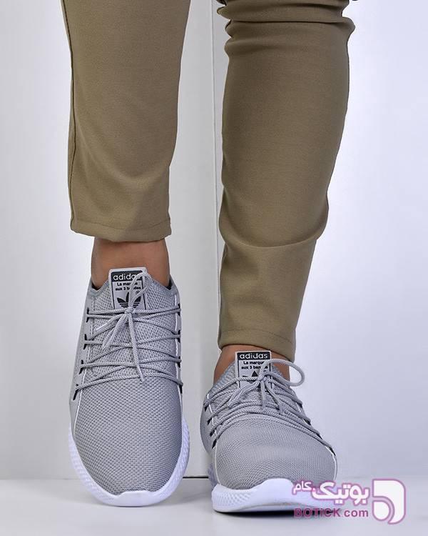 کفش ورزشی ادیداس نقره ای كتانی مردانه
