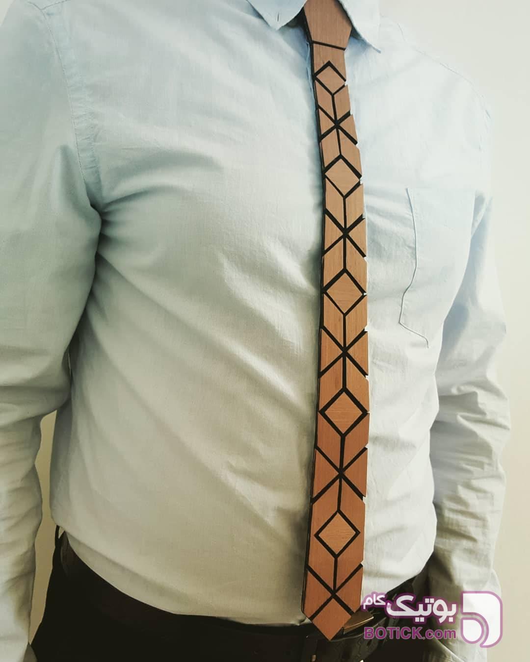 کراوات چوبی مشکی كراوات و پاپيون